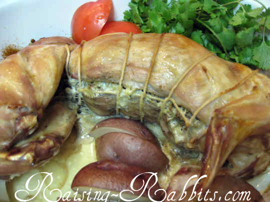 Stuffed Rabbit Recipe, baked