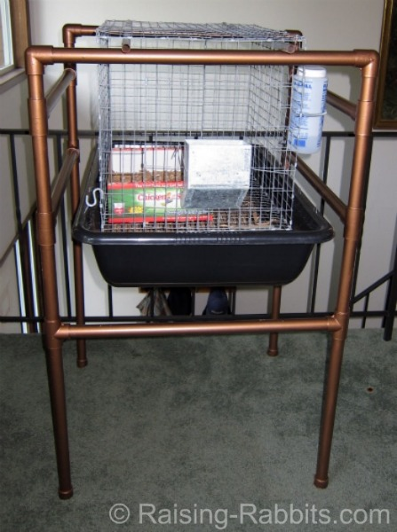 Tall Indoor Rabbit Hutch PVC Frame and Wire Cage