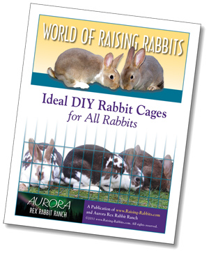 Plans for building rabbit cages - an e-book entitled Ideal DIY Rabbit Cages for All Rabbits, published by Raising-Rabbits.com
