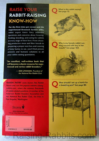 Rabbit Raising Problem Solver back cover