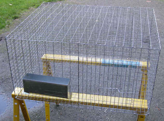 Homemade all wire rabbit cage suitable for a large rabbit