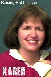 Pic of Karen at Raising-Rabbits.com