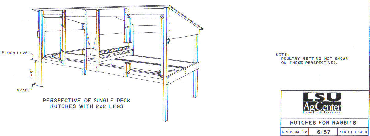 Rabbit Hutch Blueprints Free
