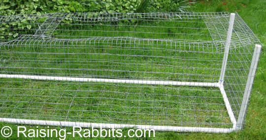 Rabbit Run no roof, with brace installed