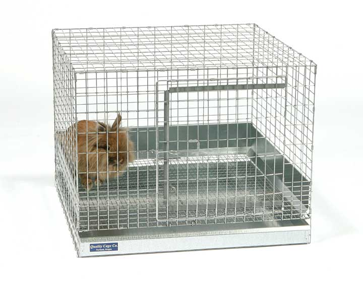 Medium rabbit cage measures 24