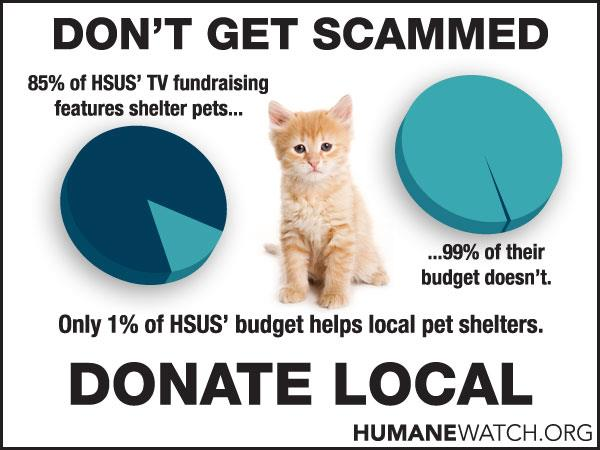 HumaneWatch.org warns about the advertising scams of HSUS