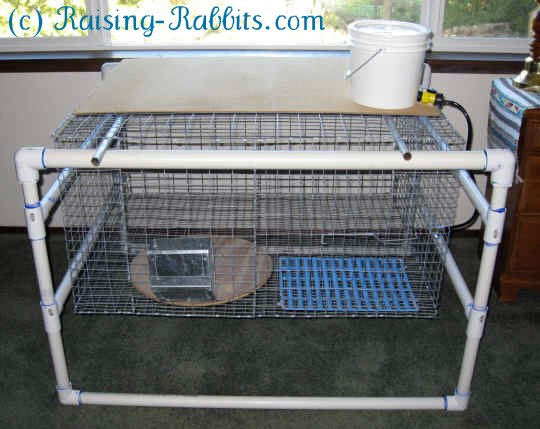 PVC frame for large indoor rabbit cages