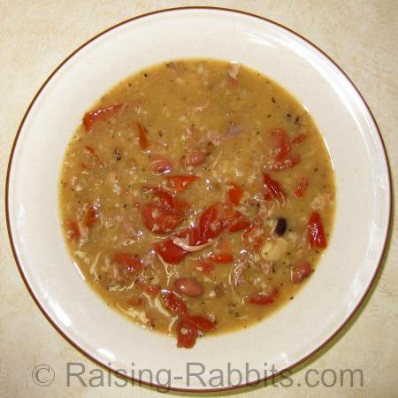 Lapin soup du jour