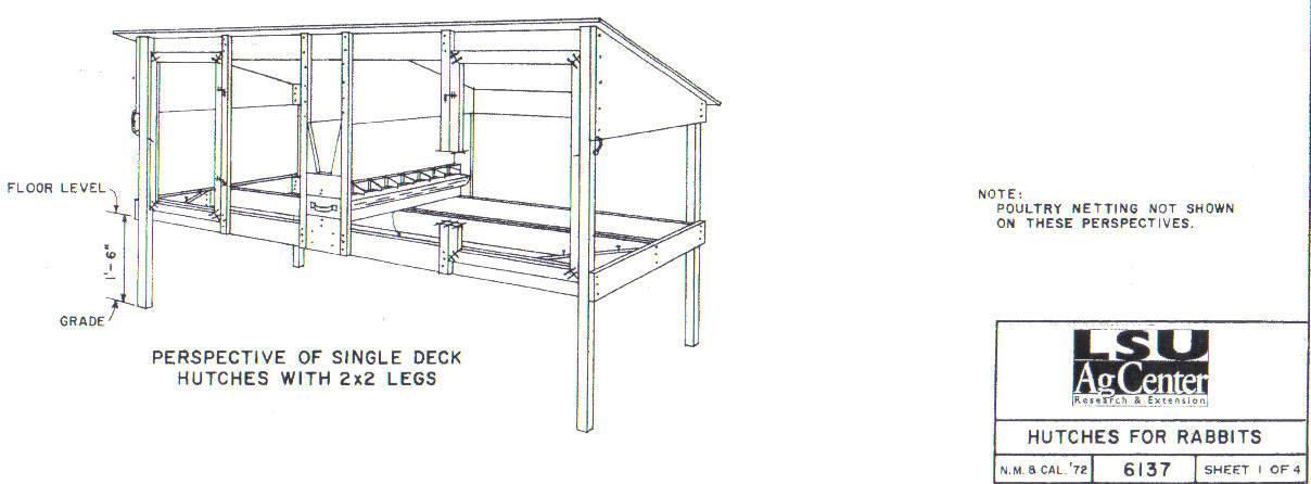 LSU Single-Tiered Hutch design